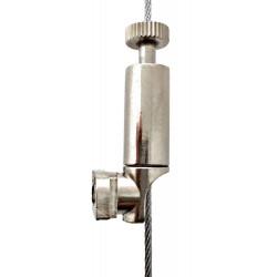 Crochet latéral pour cadres Aluminium - Accrochage par câbles