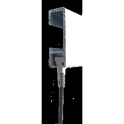 Câble tête TWISTER Acier galvanisé - Accrochage par câbles