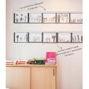 """Rail Vertical """"Info Strip"""" pour dessins et photos - 100 cm A06.0101.03.0203.01"""