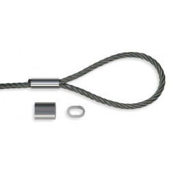 Manchons pour boucles - Accrochage par câbles