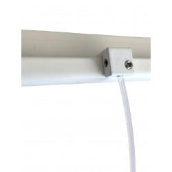 Raccord d'angle blanc pour rail d'accrochage Newly R30