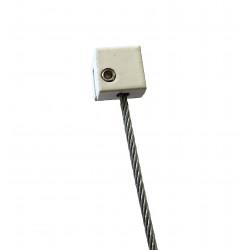 Attache haute Cube pour Rail J - Accrochage par câbles