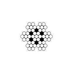 CABLE acier sans terminaison - 7x7 galvanisé - Accrochage par câbles