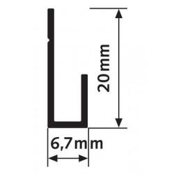 Rail J Classic rail - 20 kg - Accrochage par câbles