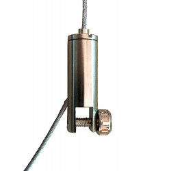 Attache traversante haute à panneau - Accrochage par câbles