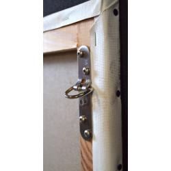 Pontet 4 trous KOA accrochage de tableaux lourd - 150 kg - Attelles, anneaux, attaches