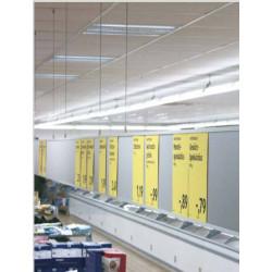 Grippeur plafond magnétique - Accrochage par câbles