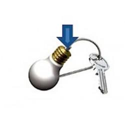 Porte-clés - Ampoule - Accrochage par câbles